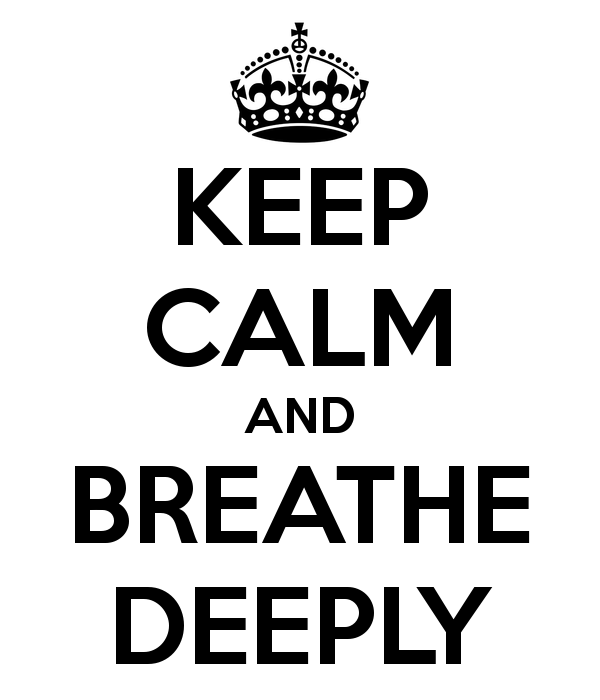 Deep breath to be more energetic
